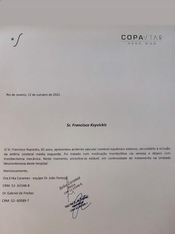 Angélica publica boletim médico do pai, que sofreu AVC