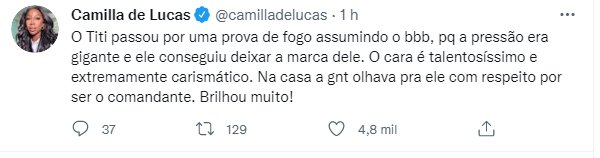 De Juliette a Gleici: Ex-BBBs reagem à saída de Tiago Leifert da Globo