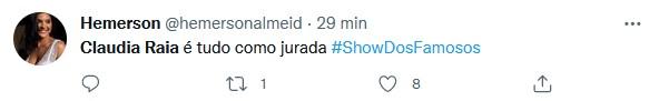 Claudia Raia volta ao Show dos Famosos e web se derrete