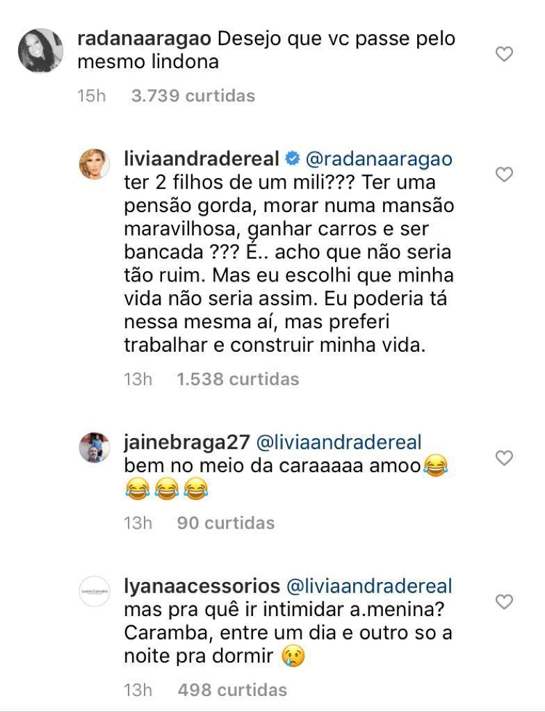"""Lívia Andrade rebate críticas sobre Pétala Barreiros: \""""Preferi trabalhar\"""""""