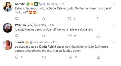 João Guilherme e Duda Reis são flagrados aos beijos em balada