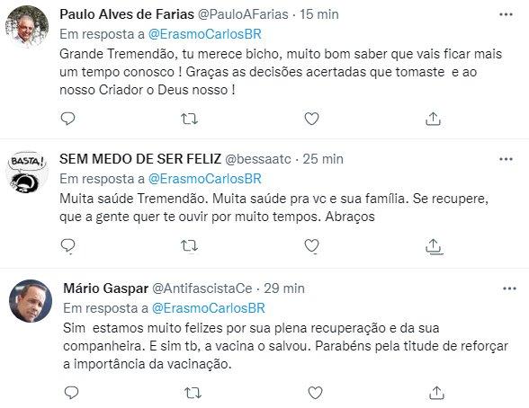 """Erasmo Carlos desabafa após internação por Covid-19: \""""Não foi fácil\"""""""