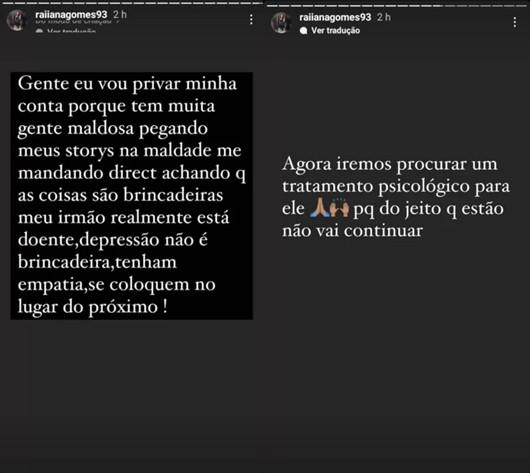 """Irmã desabafa sobre Nego do Borel e revela busca por tratamento: \""""Ele está doente\"""""""