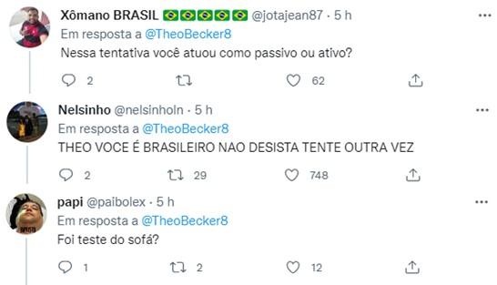 """Theo Becker revela que já pensou ser gay: \""""Não consegui\"""""""