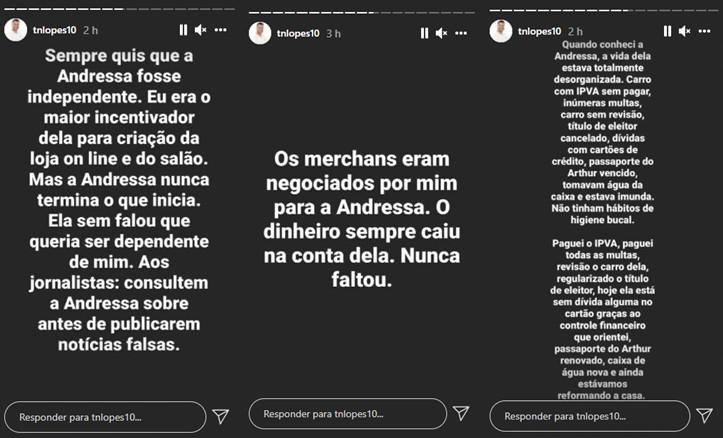 "Após anúncio polêmico de Andressa Urach, ex se pronuncia: \""Estamos nos entendendo\"""