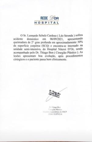 Léo Stronda está internado após grave acidente doméstico