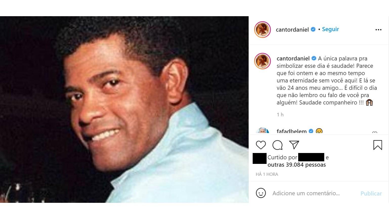 """Daniel homenageia João Paulo, morto há 24 anos: """"Difícil o dia que não lembro"""""""