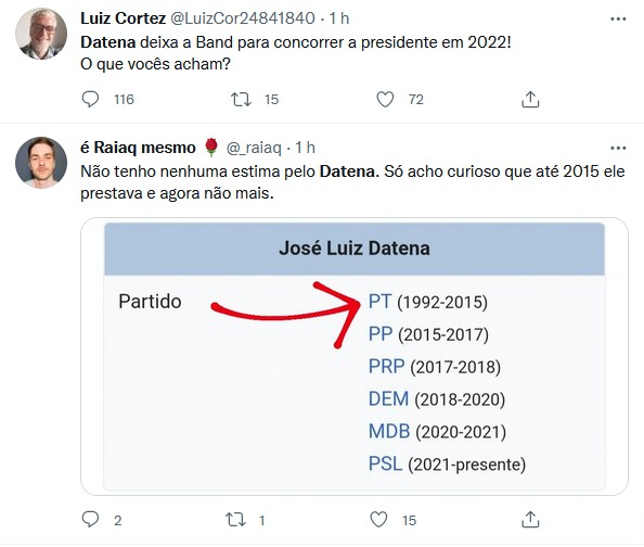 """Datena bomba após anunciar pré-candidatura à presidência: \""""Só pode ser piada\"""""""