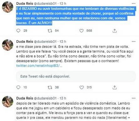 Ex-funcionário de Nego do Borel expõe maus tratos do cantor a Duda Reis