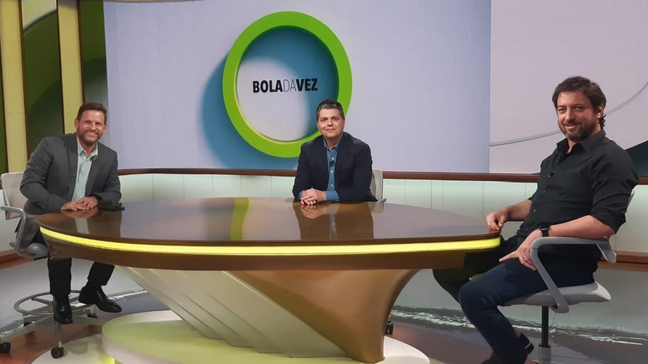 Bola da Vez estreia novo cenário em entrevista com o presidente do Corinthians