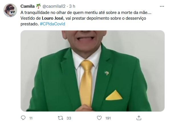 Luciano Hang vai de verde e amarelo na CPI e é apelidado de Louro José