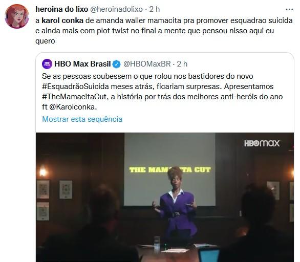 Karol Conká faz divulgação do filme O Esquadrão Suicida e bomba na web