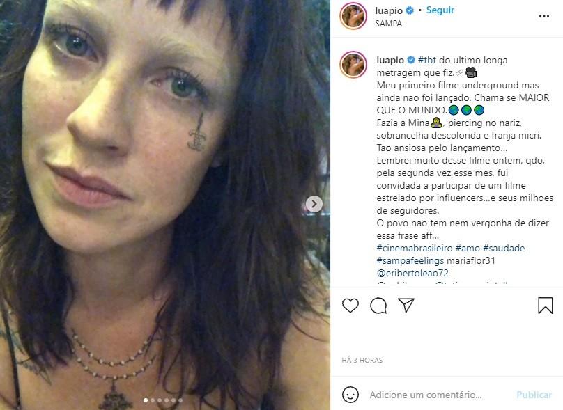 """Luana Piovani recebe convite para filme com influencers e detona: \""""Não tem nem vergonha\"""""""