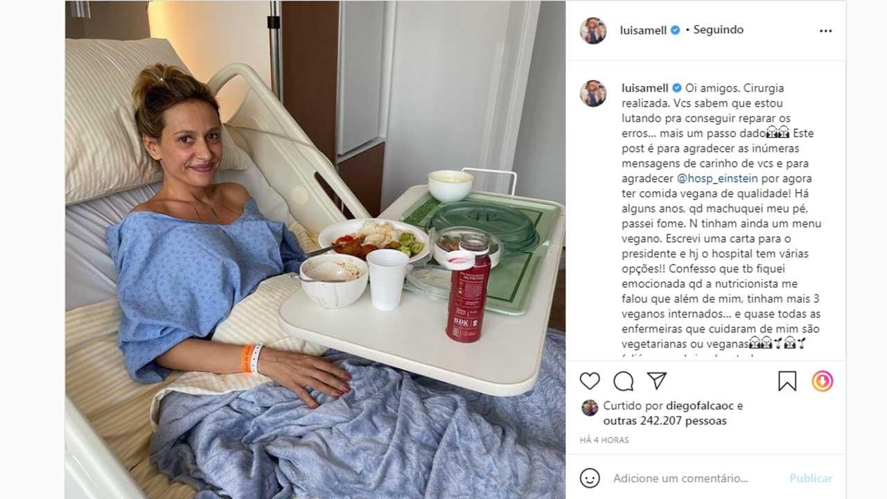Luisa Mell passa por cirurgia em São Paulo