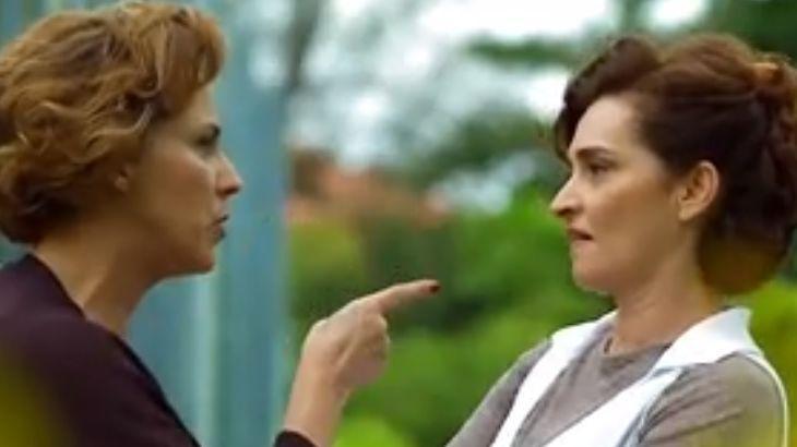"""A Vida da Gente: Eva conta que filha está de volta e Vitória debocha: \""""Ícone morto\"""""""
