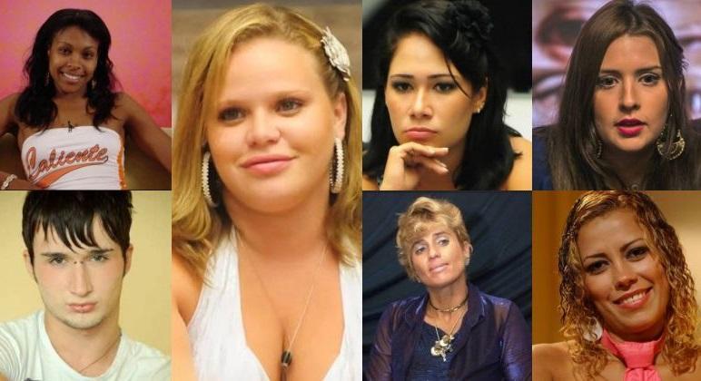 Solange, Serginho, Paulinha, Jakeline, Cida, Tamires e Tati Pink: ex-BBBs que mudaram o visual