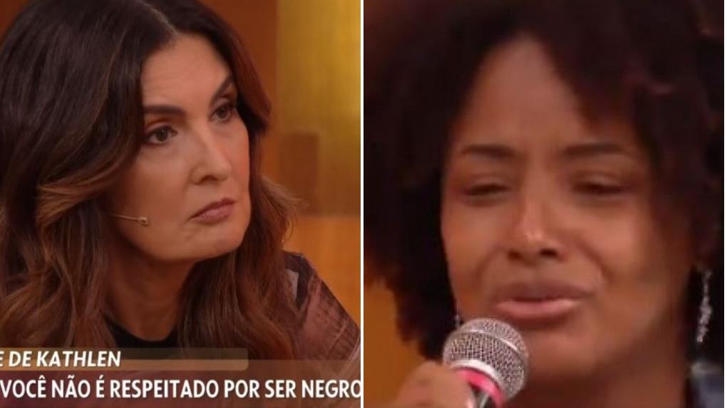 Fátima Bernardes se emociona no programa Encontro