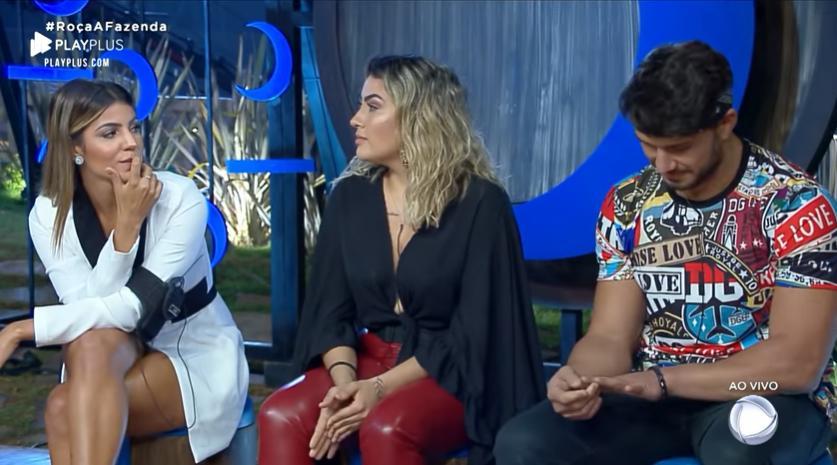 Hariany Almeida, Thayse Teixeira e Lucas Viana em decisão importante em A Fazenda 2019