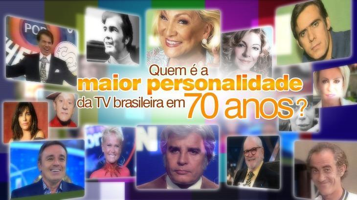 Arte sobre a maior personalidade da TV brasileira