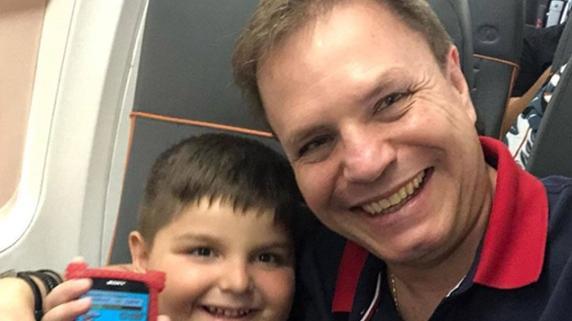 Alan Frank e o filho