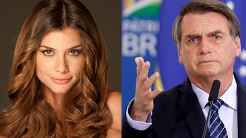 Alinne Moraes e Jair Bolsonaro