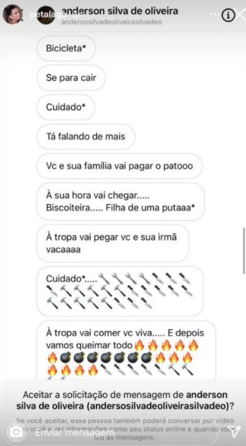 Pétala desabafa após tentar denunciar namorado de Lívia Andrade em delegacia