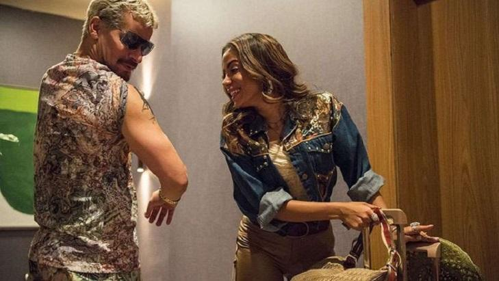 Anitta e Thiago Martins em cena de Amor de Mãe