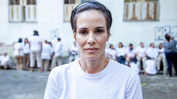 Ana Furtada caracterizada de Geruza para A Dona do Pedaço