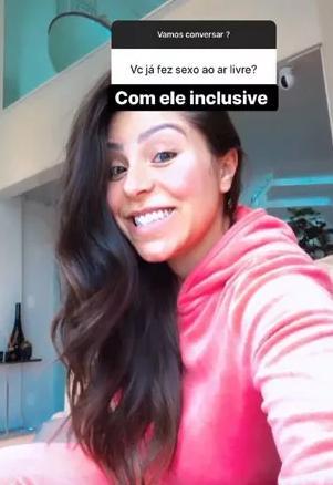 Andressa Ferreira revela que já fez sexo ao ar livre com Thammy Miranda