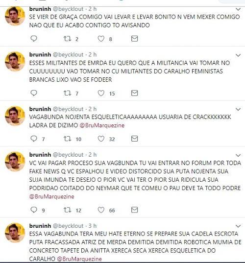 """BBB20: Fã de Prior enlouquece após eliminação e ofende Bruna Marquezine: """"Nojenta"""""""