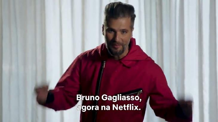 Bruno Gagliasso em vídeo na Netflix Brasil