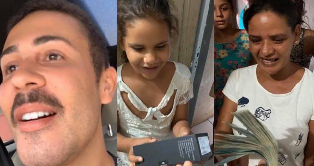 Carlinhos Maia presenteia família