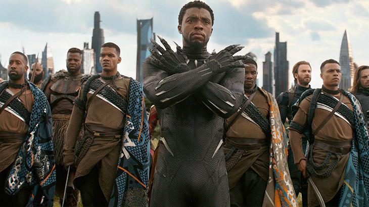 Chadwick Boseman em Pantera Negra