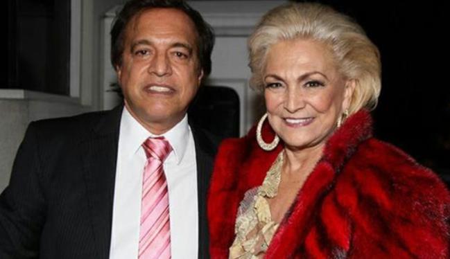 Claudio Pessutti e Hebe Camargo