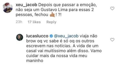 Lucas Lucco rebate comparação com Gusttavo Lima e defende cantor
