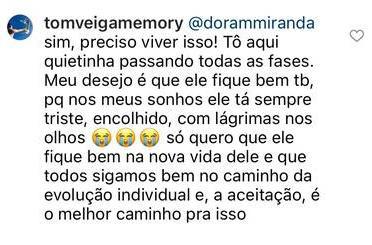 """Ex revela sonhos com intérprete de Louro José: \""""Está muito triste\"""""""