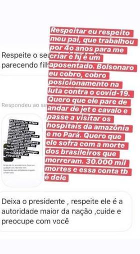 """Geisy Arruda rebate seguidor e detona Jair Bolsonaro: \""""Quero que ele sofra com as mortes\"""""""