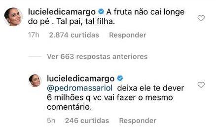 Luciele provoca Belo após prisão da filha do cantor e cita dívida com Denílson