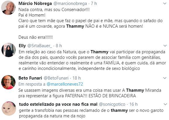 """Thammy rebate críticas após convite para campanha de Dia dos Pais: \""""Quebrar barreiras\"""""""