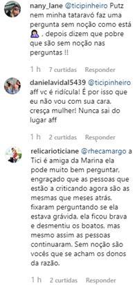 """Ticiane Pinheiro surpreende com pergunta a Marina Ruy Barbosa: \""""Tá gravidinha?\"""""""