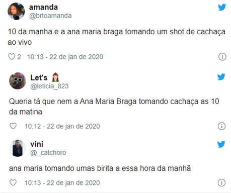 Ana Maria Braga surpreende ao beber cachaça ao vivo no Mais Você
