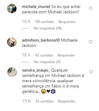 Cleo Pires é comparada com Michael Jackson por fãs e reage