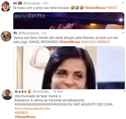 "BBB20: Marcela e Daniel movimentam edredom e web repercute: \""Broxa\"""