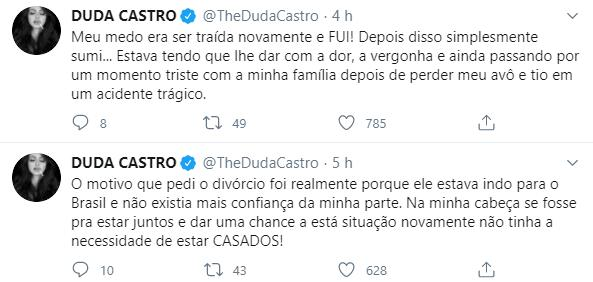 """Ex de Biel relata ameaças após estreia de A Fazenda: \""""Cuidado antes de dar palpite\"""""""