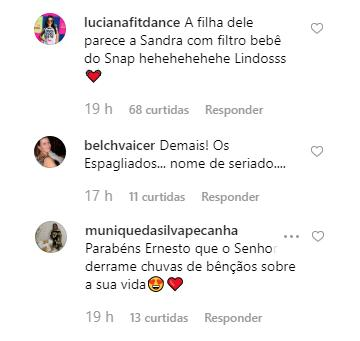 Ernesto Paglia posta foto rara dos 3 filhos e Sandra Annenberg reage