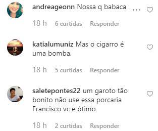"""Irmão de Rafael Vitti é detonado após publicar foto com cigarro: \""""Babaca\"""""""