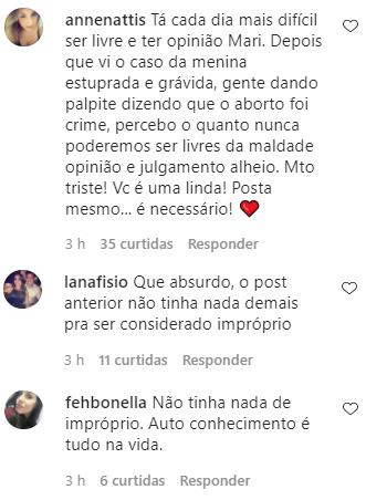 Mulher de Cauã Reymond se revolta após ter post sobre masturbação feminina apagado