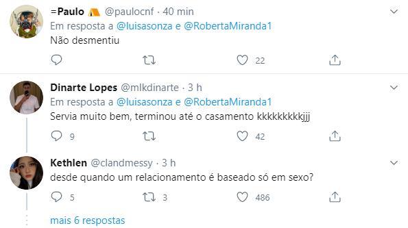 Luisa Sonza rebate Roberta Miranda e elogia parte íntima de Whindersson Nunes