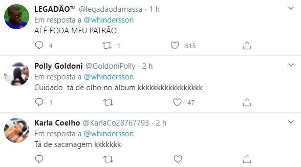 Whindersson Nunes brinca ao ver divulgação de suas músicas em playlist com Vitão na capa