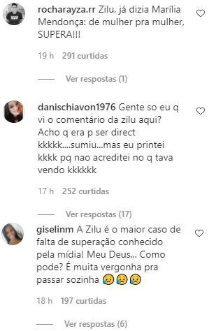 """Zilu causa polêmica ao comentar sobre atual de Zezé: \""""Piriguete dele\"""""""